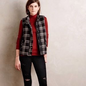 Anthropologie Hei Hei Quincy Plaid Vest